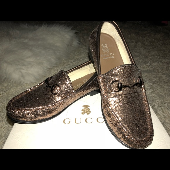 2a57ce4cc3e Girls Gucci Mocca Loafers Sz 33  1.5❤️